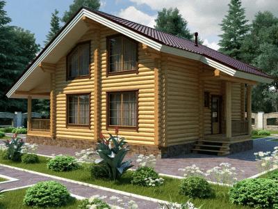 дома из большого бревна
