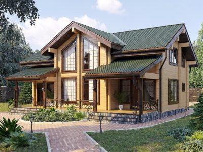 строительство домов из бруса цена